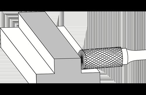 Cylinder End Cut Burrs