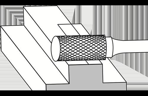 Cylinder Flat End Burrs