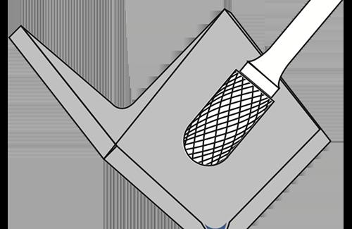Cylinder Radius Burrs