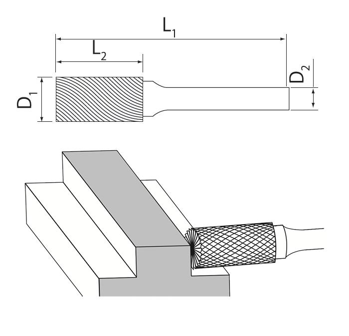 Cylinder End Cut Burrs Usage
