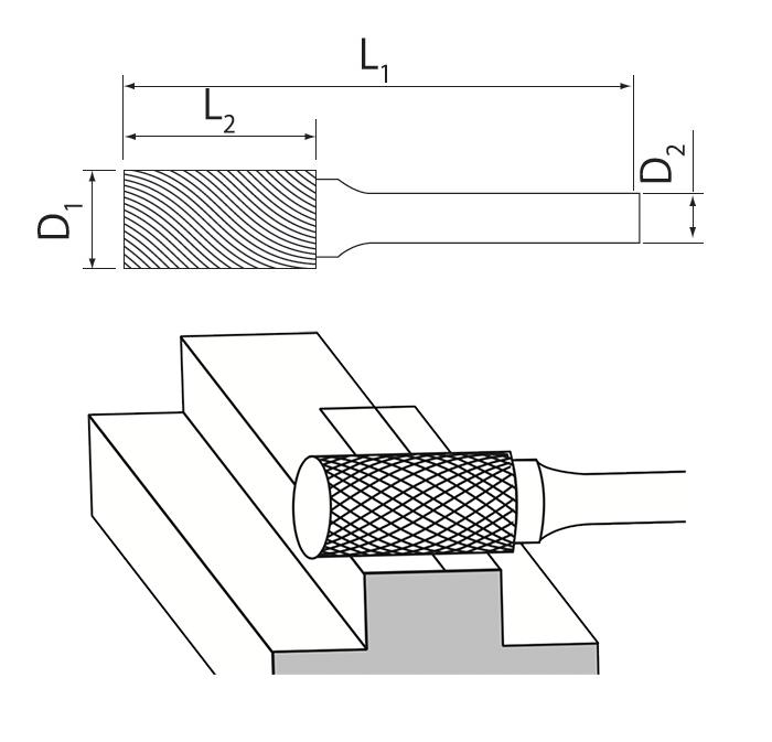 Cylinder Flat End Burrs Usage