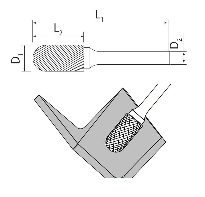 Cylinder Radius Burrs Usage
